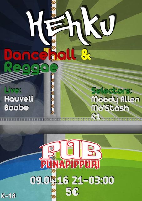 Hehku Pub Punapippuri 9.4.2016 klo 21-03